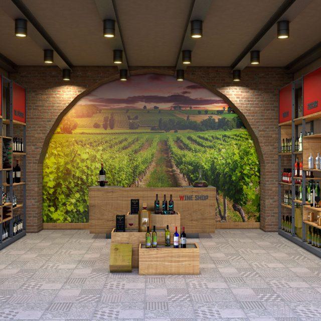 Arredamento per gastronomia e wine bar