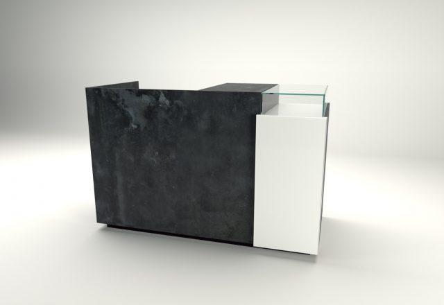 banco cassa linea zero lamiera ossidata