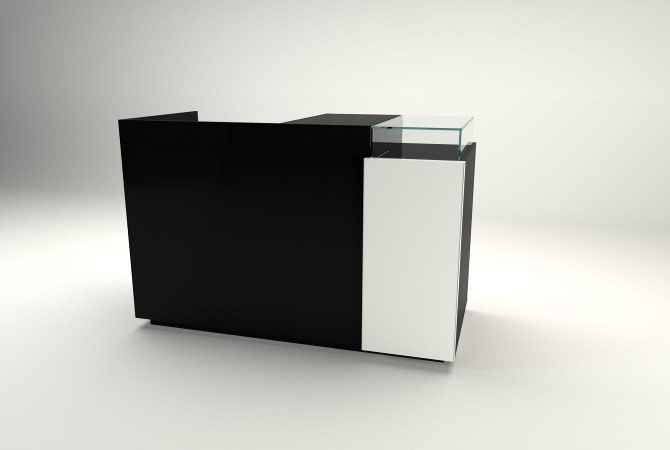 banco cassa linea zero nero lucido