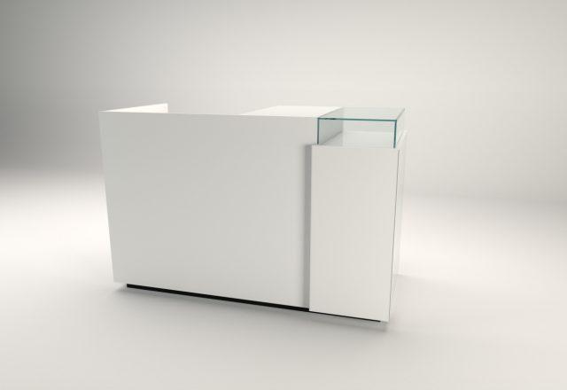 banco cassa linea zero bianco