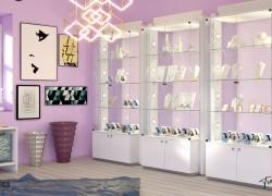 Espositori bijoux moderni in vetro