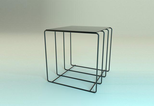 espositore vetrina cubo