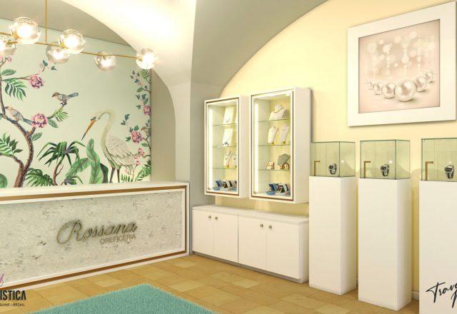 Realizzazione mobili e banco cassa per gioielleria
