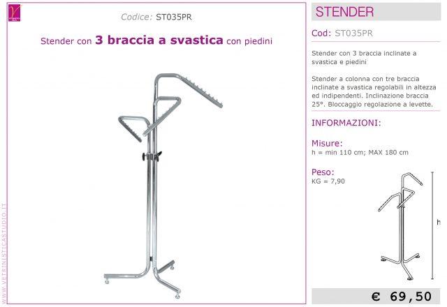 stender 3 braccia inclinate