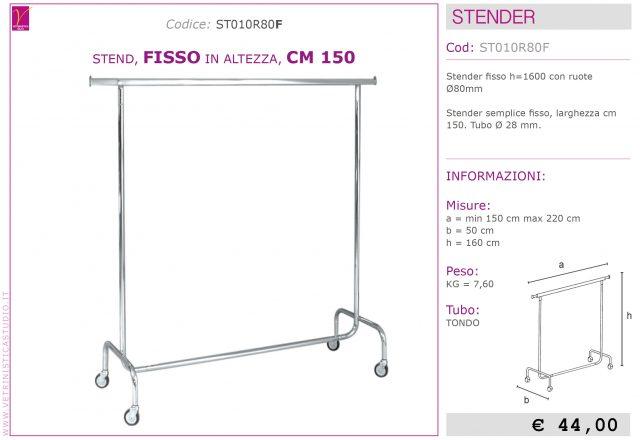 stender fisso 150 cm