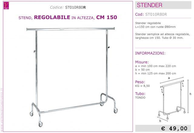 stender regolabile in altezza 150cm