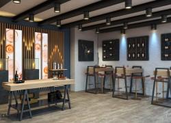 Allestimento moderno bar gastronomia