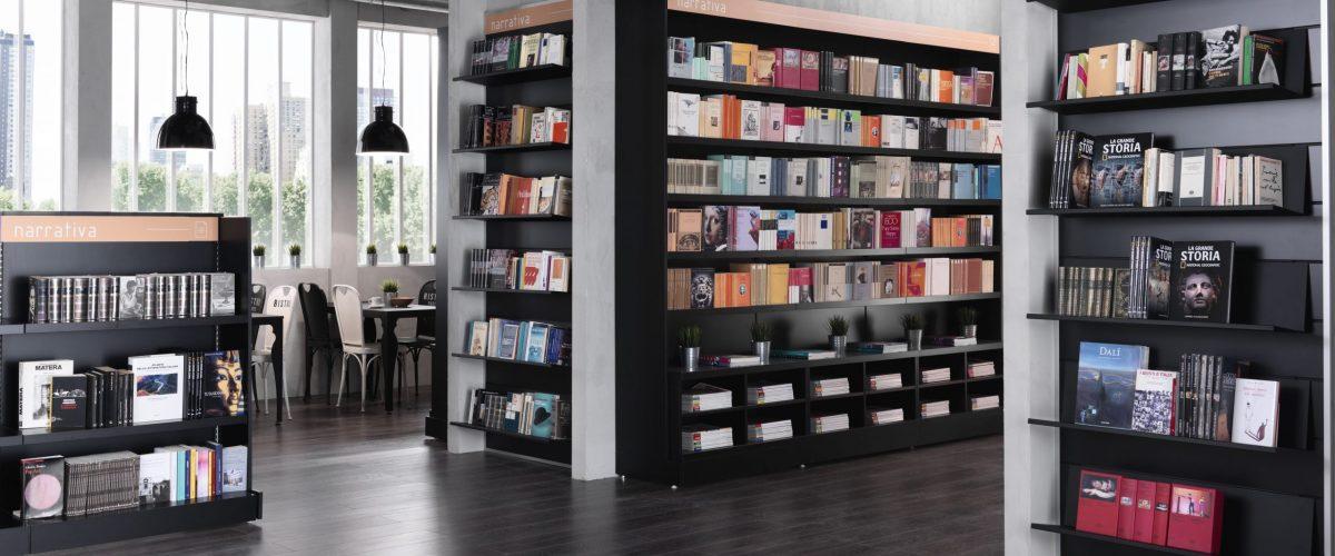 arredamento moderno di una libreria