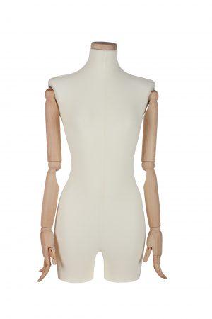 busto donna in lycra braccia legno