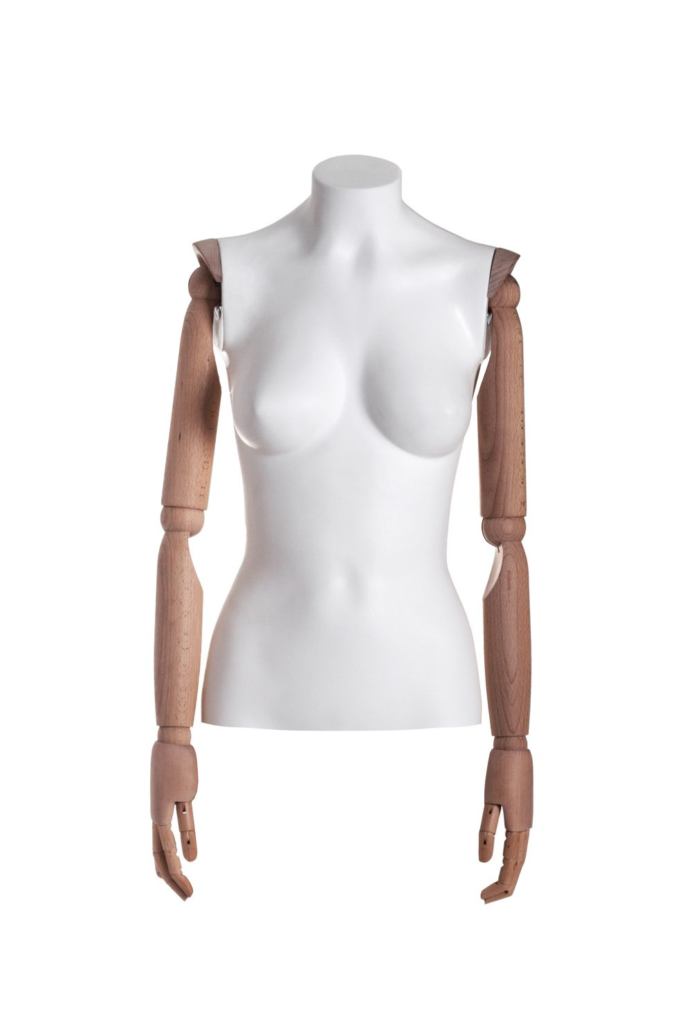 busto donna polietilene braccia in legno