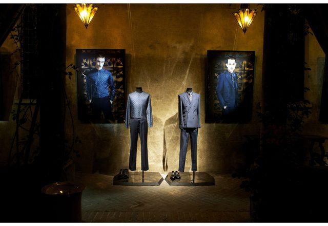Manichini per l'allestimento del negozio dello stilista Roberto Cavalli