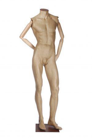 manichino uomo cartapesta con braccia in legno