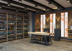 Progettazione scaffali e pareti componibili per enoteca