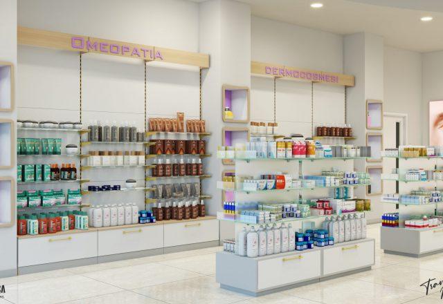 Realizzazione arredo per farmacia
