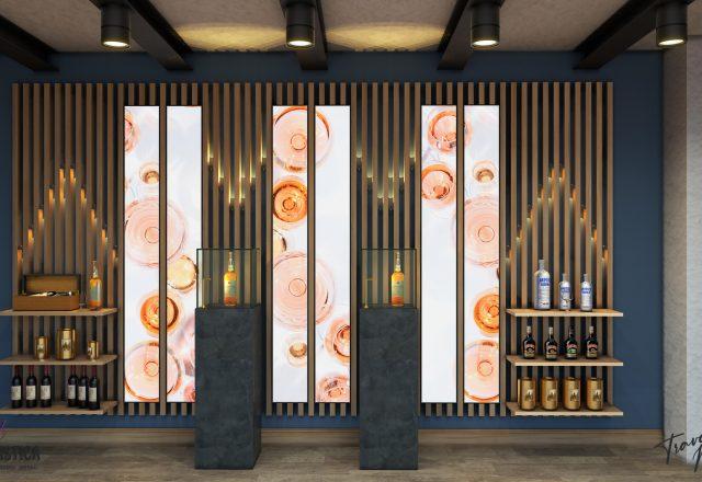 Realizzazione vetrine e scaffali per gastronomia