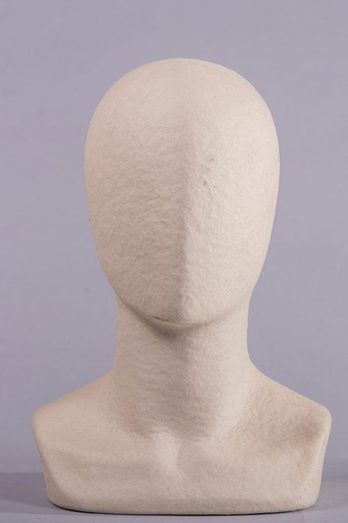 espositore testa a uovo -uomo carta pesta
