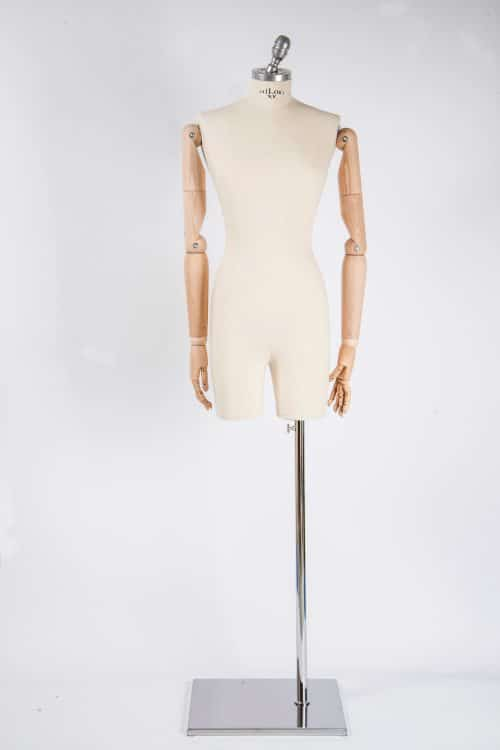 busto donna con braccia legno tailor