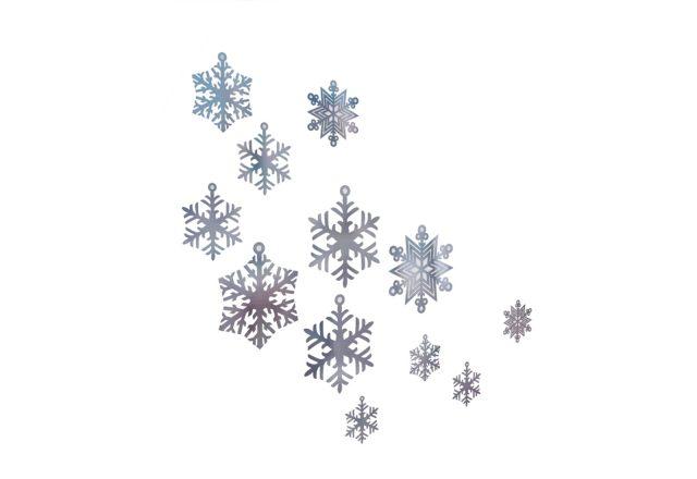 fiocchi di neve per allestimento vetrina e interno negozio