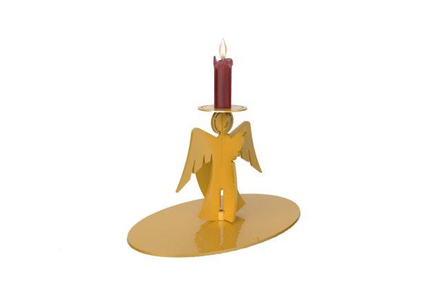 Porta candela a forma di angelo